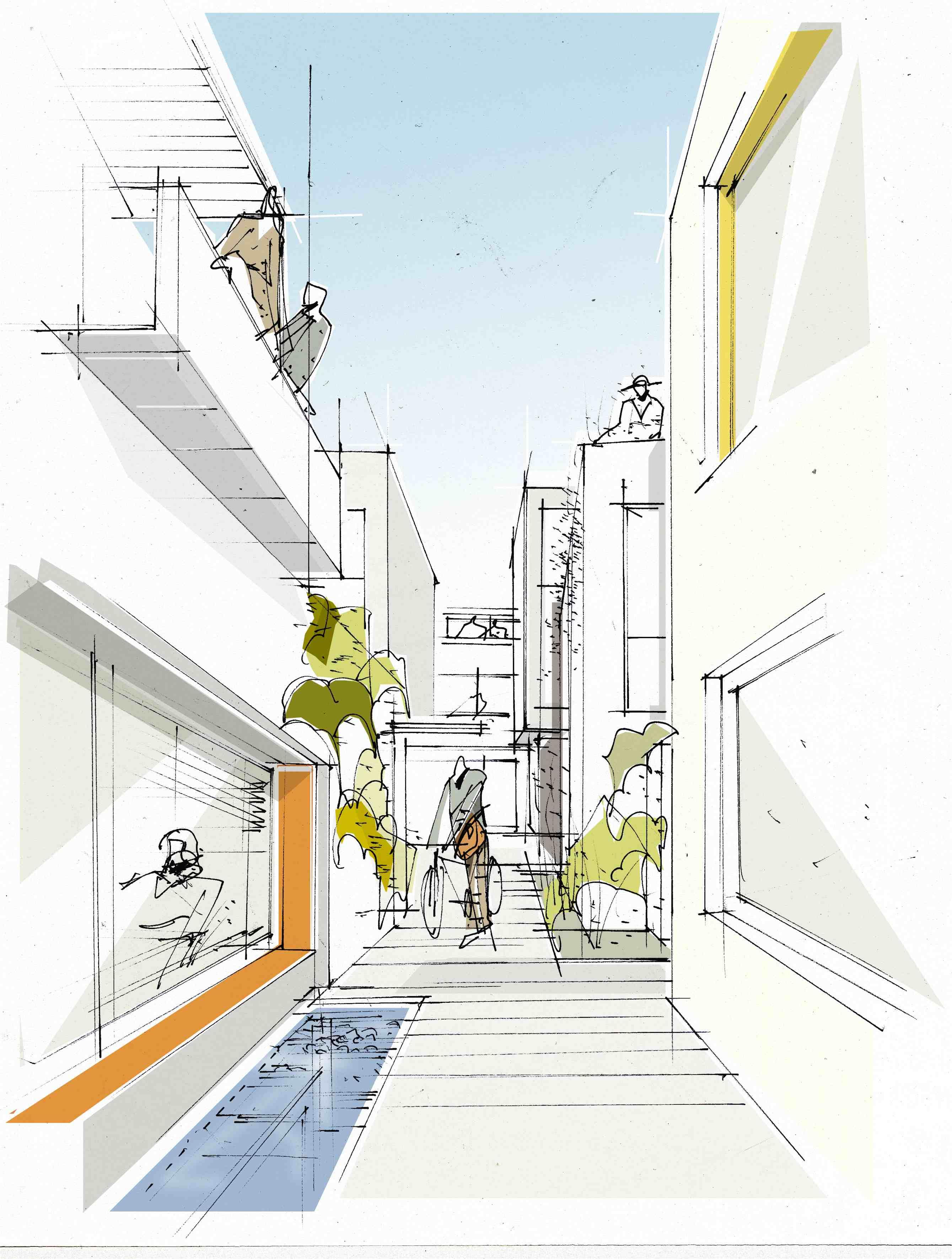 In Kooperation Mit Trapez Architektur Freihandskizzen Michael Specht